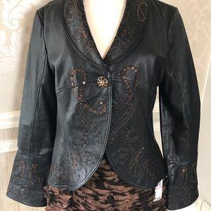 Boston Proper medium real leather jacket GLAMORUS
